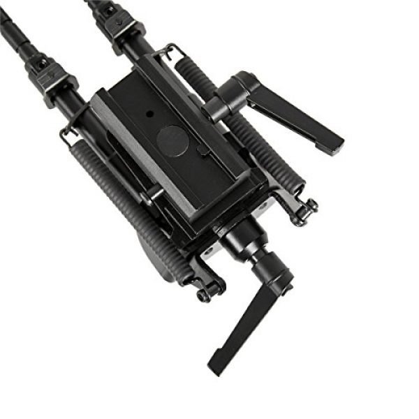 Gazelle Trading Airsoft Gun Barrel Bipod 3 Gazelle Trading 8-11 Inches Tactical Rifle Bipod with Pivot Lock for Shooting Quick Release Monopods