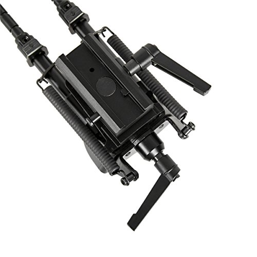Gazelle Trading  3 Gazelle Trading 8-11 Inches Tactical Rifle Bipod with Pivot Lock for Shooting Quick Release Monopods