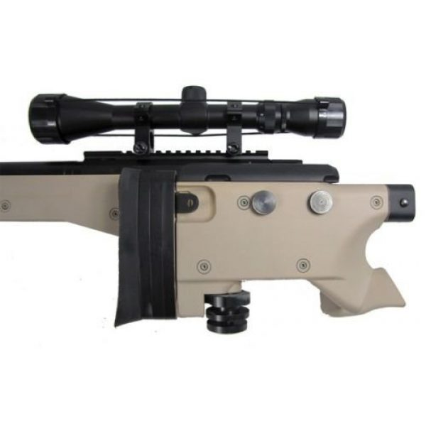 Prima USA Airsoft Rifle 5 well l96 heavy single bolt action spring airsoft sniper rifle with scope tan(Airsoft Gun)