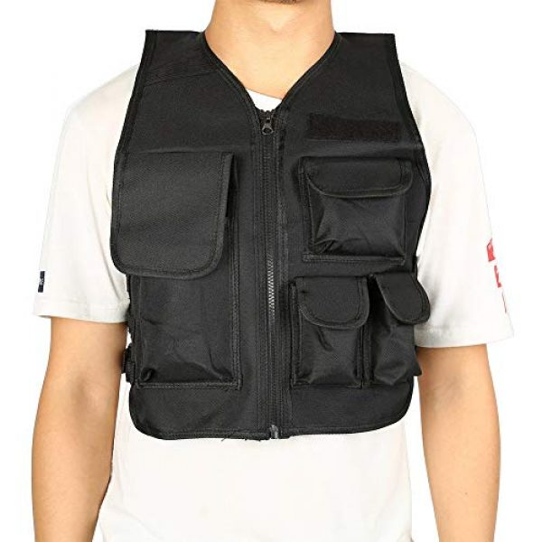 Aufee Airsoft Tactical Vest 2 Child Vest, 4 Colors Nylon CS Game Armor Vest Solid and Wear Resistant,with Side Hook and Loop Straps,Suitable for Children at Age of 8-14