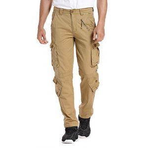 linlon Tactical Pant 1 Mens Cargo Pants, Camo Tactical Pants BDU Combat Work Pants with 8 Pockets