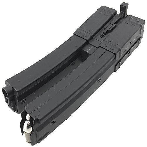 SportPro  7 SportPro 560 Round Polymer Double High Capacity Magazine for AEG MP5 Airsoft - Black