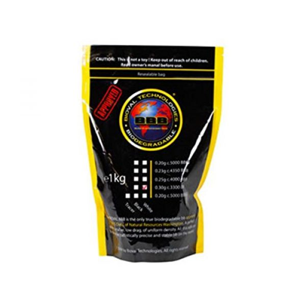 Bioval Technologies Airsoft BB 1 Bioval Technologies Biodegradable Airsoft BBs, 0.30g, White, 3,300 Rds