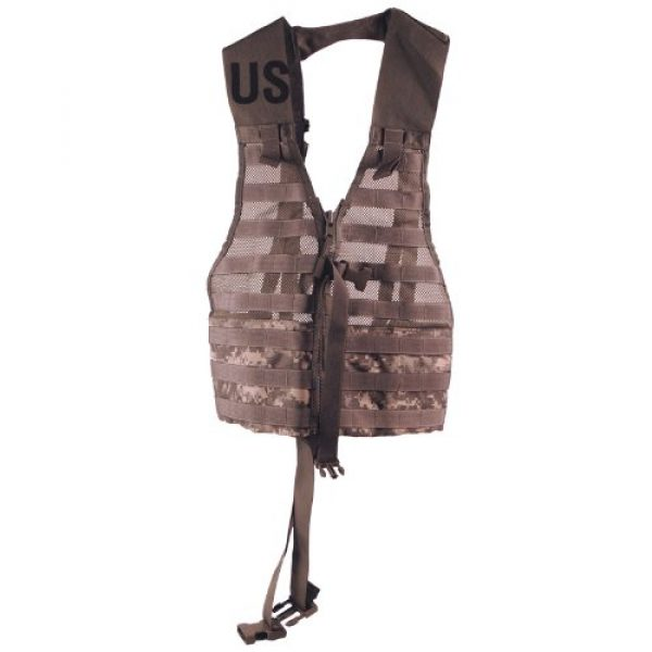 U.S. Military Airsoft Tactical Vest 1 MOLLE Fighting Load Carrier ACU Digital Previously Issued