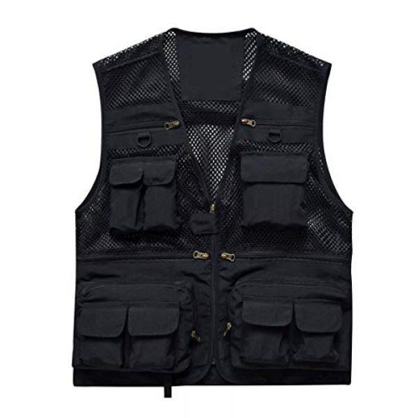 DAFREW Airsoft Tactical Vest 1 DAFREW Men's Vest Fashion Casual Vest Outdoor Photography Fishing Vest Quick Dry Vest (Color : Black, Size : M)