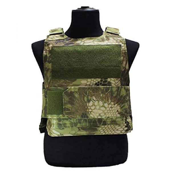 BGJ Airsoft Tactical Vest 7 BGJ Outdoor Tactical Vest Military Molle Armor Plate Waistcoat Airsoft Carrier Vest Camo Woodland Hunting Protection Combat CS Vest