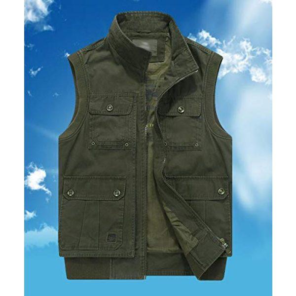 DAFREW Airsoft Tactical Vest 4 DAFREW Men's Vest Vest Casual Cotton Vest Men's Outdoor Travel Vest (Color : Khaki, Size : XL)
