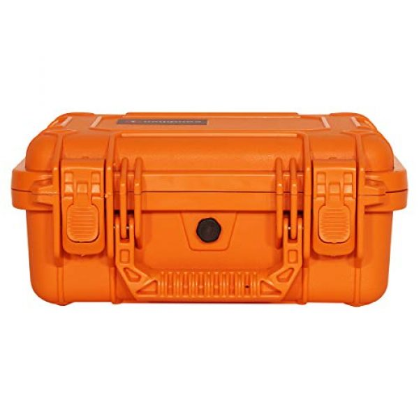 "Condition 1 Pistol Case 6 Condition 1 Premium Dual Pistol Hard Case with Foam, Orange | 9"" x 7"" x 4"" 