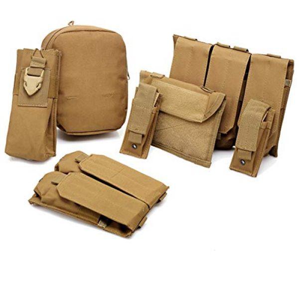 GXYWAN Airsoft Tactical Vest 4 GXYWAN Tactical Vest, Ghost Anti-War Vest Combat Suit Camouflage Wire Vest Eight-Piece Suit Camouflage Combat Vest