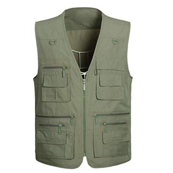 DAFREW Airsoft Tactical Vest 1 DAFREW Thin Vest Outdoor Leisure Fishing Vest Men's Vest Photography Vest (Color : Green, Size : XXL)