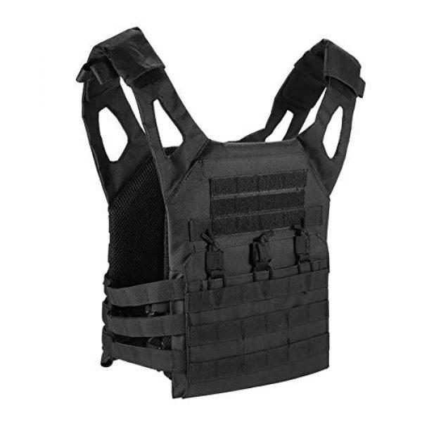 GXYWAN Airsoft Tactical Vest 1 GXYWAN Tactical Vest, Ghost Anti-War Vest Combat Uniform Camouflage Line Vest (Black)