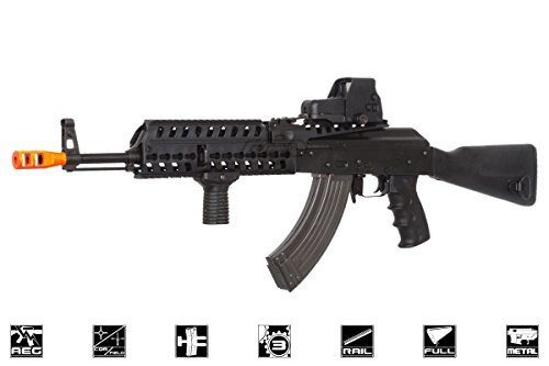 Lancer Tactical  1 Lancer Tactical LT104B AK47 Tactical Keymod Rifle Blowback AEG Airsoft Rifle by Lonex (Black)