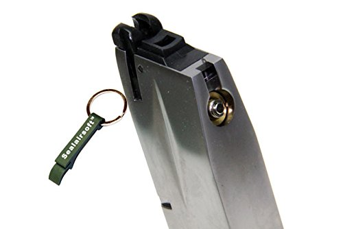 WE  2 WE 25rds Gas Airsoft Magazine For KJW Marui SOG M9 M92 M92F GBB Silver -Mobile Ring Included