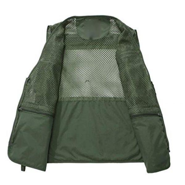DAFREW Airsoft Tactical Vest 3 DAFREW Men's Vest Spring and Autumn Vest Multi-Pocket Convenient Vest Outdoor Fishing Vest (Color : Black, Size : XL)