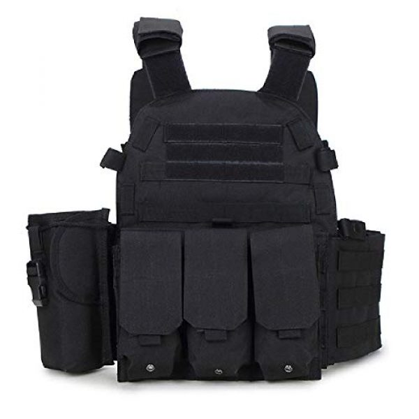 BGJ Airsoft Tactical Vest 1 Tactical 6094 Molle Vest Military Combat Body Armor Vest Army Airsoft Paintball Wargame Plate Carrier Vest Hunting Accessories