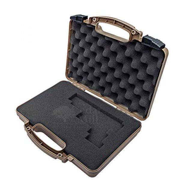 Cedar Mill Fine Firearms Pistol Case 3 Cedar Mill Fine Firearms -Worlds Smallest Micro Pistol Cleaning Kit for Handguns | Free Super-X Tool Bundle with Hard Gun Case Pistol Case (Desert TAN) |TSA Approved with Pick and Pluck Foam (2 items)