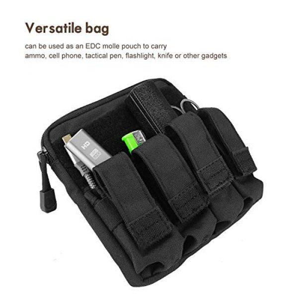 ProCase Pistol Case 5 ProCase Tactical Gun Range Bag Pistol Shooting Duffle Bag Bundle with Tactical Pistol Mag Pouch -Black