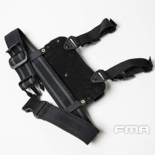FMA  2 FMA Drop Leg Mag Carrier BK for Tactical Airsoft Hunting Game