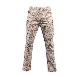 LANBAOSI Tactical Pant 1 Men's Tactical Military BDU Pants Combat Woodland Camo Outdoor Gear Trousers