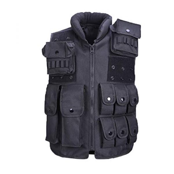 Moontie Airsoft Tactical Vest 3 Moontie Military Tactical Vest, Paintball Camouflage Molle Hunting Vest Assault Shooting Hunting Security Waistcoat