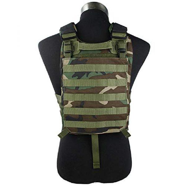BGJ Airsoft Tactical Vest 6 BGJ Outdoor Tactical Vest Woodland 500D Cordura Domestic Fabric