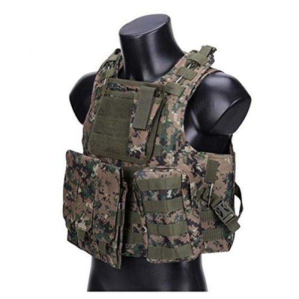 Redland Art Airsoft Tactical Vest 1 Redland Art Camouflage Tactical Amphibious Vest Military Army Combat Airsoft Paintball Sport Body Armor Molle Hunting Vest 8 Colors Airsoft Tactical Vest