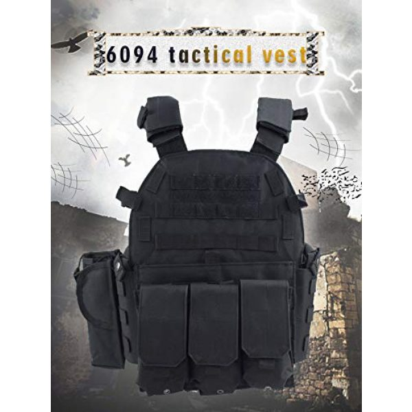 BGJ Airsoft Tactical Vest 6 Paintball 6094 Tactical Molle Vest Special Forces Military Army Vest Training CS Combination Vest Hunting Airsoft Body Armor