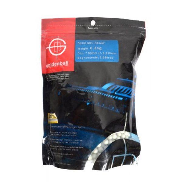 GoldenBall Airsoft BB 1 8mm 0.34g GoldenBall Seamless Elite Competition Grade BBs - 2000rd Bag