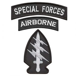 LEGEEON  1 LEGEEON Bundle Set of 3 Patches Special Forces SF Airborne US Army Military Morale Tactical Badges