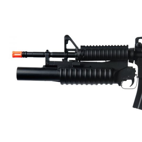 Boyi Dboys Airsoft Rifle 5 m3181ab m4a1 Carbine with m203 Grenade Launcher, 2 mags, 2 Adjustable Stocks, 2 handguards, Tactical Flashlight(Airsoft Gun)