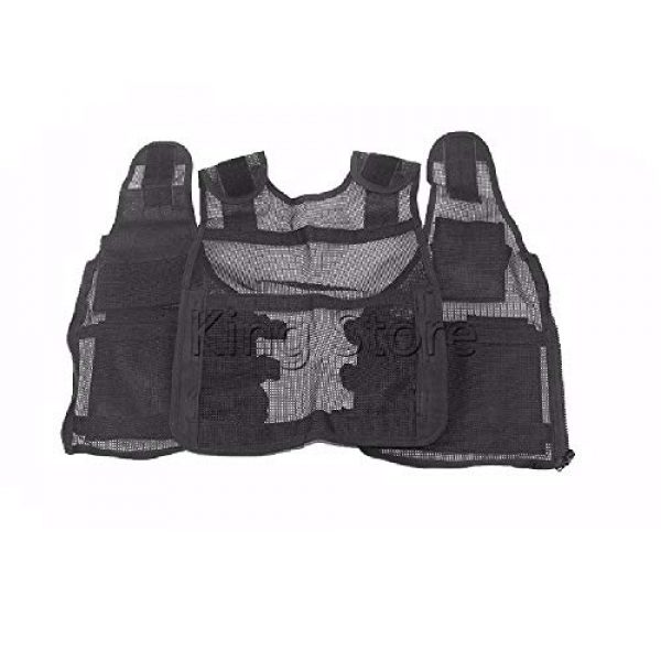 BGJ Airsoft Tactical Vest 3 Tactical Small Fishing Vest Summer Hunting Mens Multi-Pockets Airsoft Vest Black Color Outdoor Sport Military Equipment