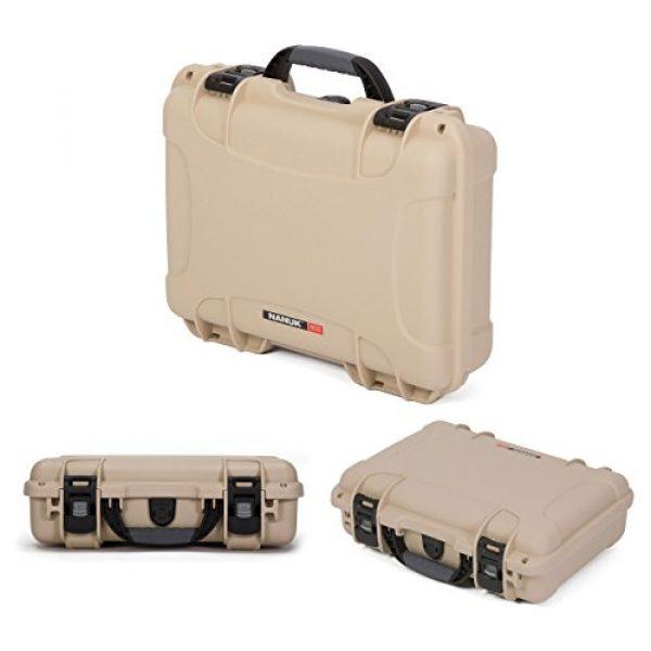 Nanuk Pistol Case 3 Nanuk 910 2UP Waterproof Hard Case w/Custom Foam Insert for Glock Pistols - Tan