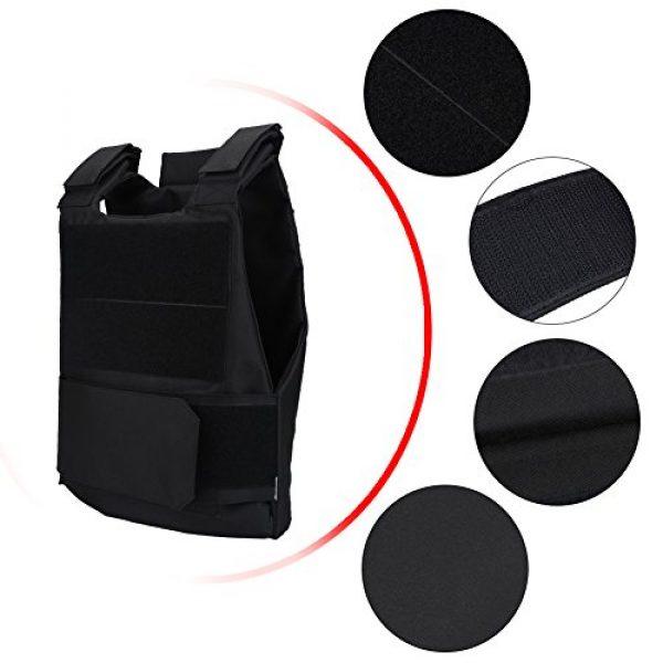 Alomejor Airsoft Tactical Vest 4 1Pc Vest Wear-Resistant Adjustable Vest Guard Waistcoat CS Field Training Protective Vest Campus Accessory