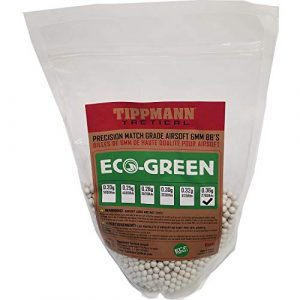 Tippmann Airsoft  1 Tippmann ECO-Green Precision Match Grade 6mm Airsoft BB's White