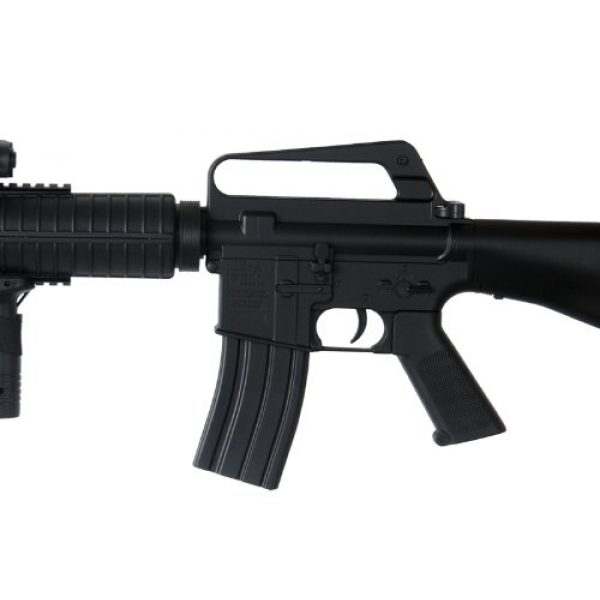 Well Airsoft Rifle 3 Well m16-a3 RIS Spring Airsoft Gun Assault Rifle fps-340 w/Aiming Sight, Flashlight, high Capacity Magazine(Airsoft Gun)