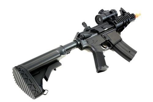 Double Eagle  3 2011 315-fps Airsoft Rifle m16/m4 Style red dot Version 1 1 Double Eagle cqb 614 aeg Full auto Rifle Electric Airsoft Gun Airsoft Rifle Gun Assault Rifle Gun(Airsoft Gun)