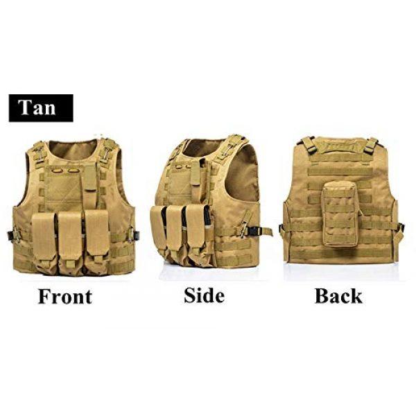 BGJ Airsoft Tactical Vest 7 BGJ Airsoft Military Shooting Vest Molle Waistcoat Armor Hunting Vest Tactical Combat Gear Wargame CS Protective Vests