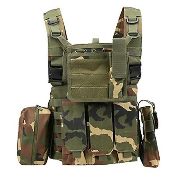 WEQ Airsoft Tactical Vest 1 WEQ Multifunctional Tactical Vest Modular Vest Reconnaissance Field CS Combat Vest (Color : #D)