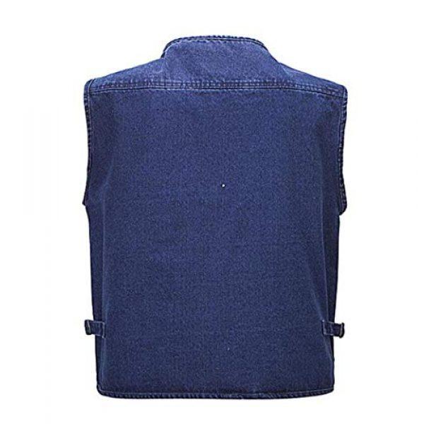 DAFREW Airsoft Tactical Vest 2 Denim Sleeveless Shirt Men's Casual Vest Fashion Photography Vest Fishing Vest (Color : Denim Color, Size : XL)