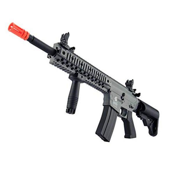 "Lancer Tactical Airsoft Rifle 3 Lancer Tactical New Gen EVO 13.5"" Barrel Free Float M4 Airsoft AEG (QuadRail_Gray)"