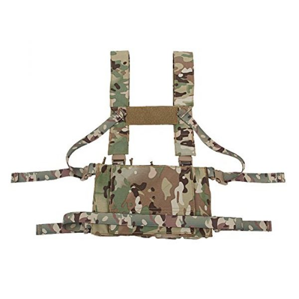 OAREA Airsoft Tactical Vest 7 OAREA Tactical Sling Vest Chest Rig Combat Recon Gear Vest with Magazine Pouch for Airsoft Hunting Games