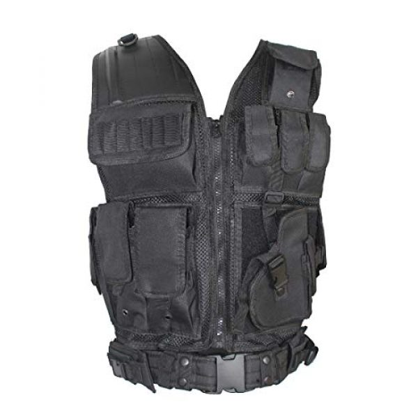 Yoghourds Airsoft Tactical Vest 1 Yoghourds Adjustable Breathable Vest, Ultra-Light Tactical Vest for Men for Hunting/Fishing/CS Field Operations/Cosplay