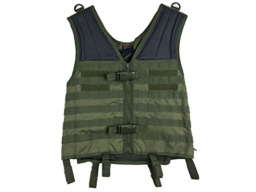 Maddog Airsoft Tactical Vest 1 Maddog Tactical MOLLE Modular Utility Vest with Breathable Mesh Liner and Heavy Duty Zipper - Adjustable Sizing