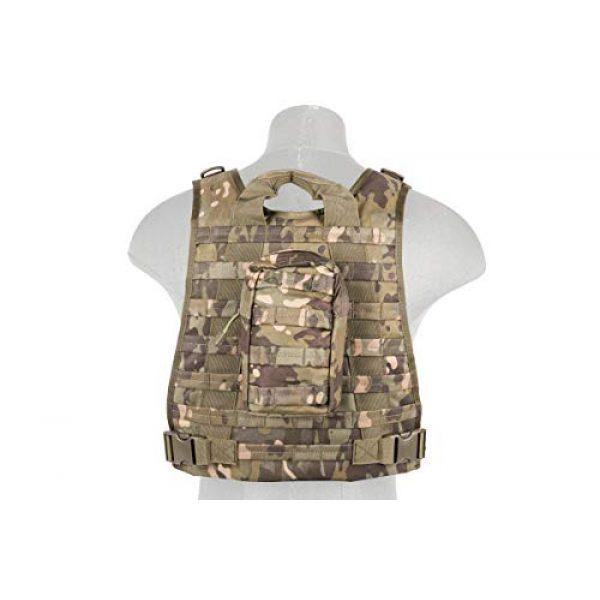 Lancer Tactical Airsoft Tactical Vest 4 Lancer Tactical Ballistic 600D Poly Combat Training Tactical Vest Camo Tropic Adjustable Lightweight