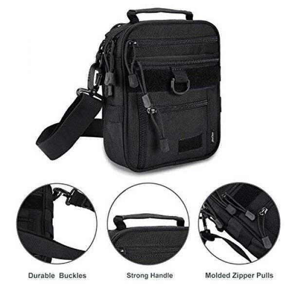 ProCase Pistol Case 2 ProCase Pistol Bag Ammo Accessories Pouch Bundle with Tactical Pistol Mag Pouch Submachine Gun Magazine Bag -Black