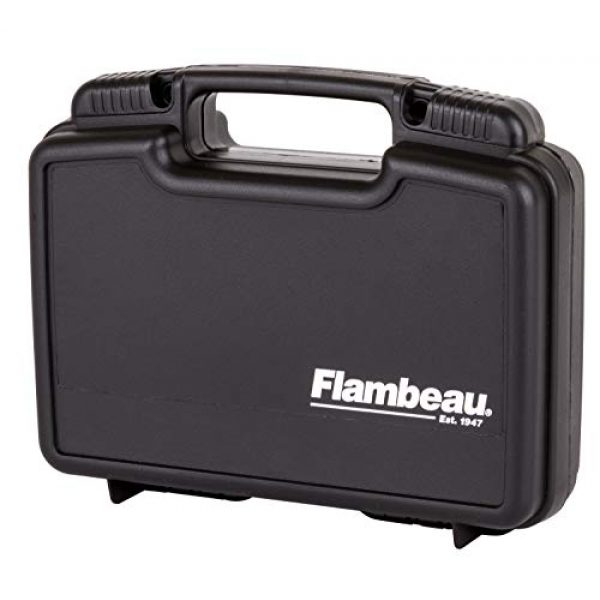 "Flambeau Outdoors Pistol Case 2 Flambeau Outdoors 1011 Safe Shot 10"" Pistol Pack Case, Portable Firearm Storage Accessory"