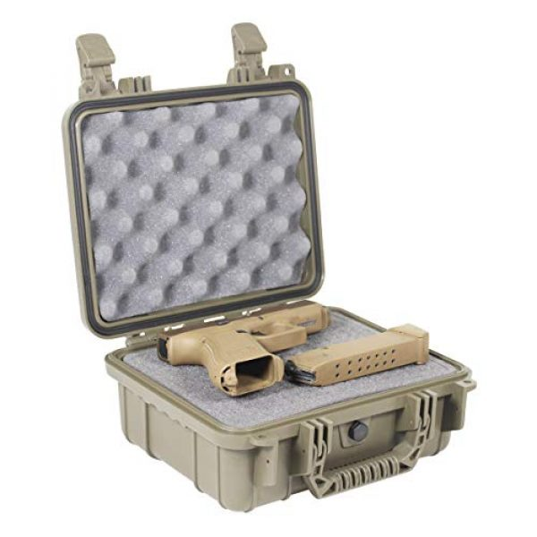 "Condition 1 Pistol Case 2 Condition 1 Premium Dual Pistol Hard Case with Foam, Green | 9"" x 7"" x 4"" 