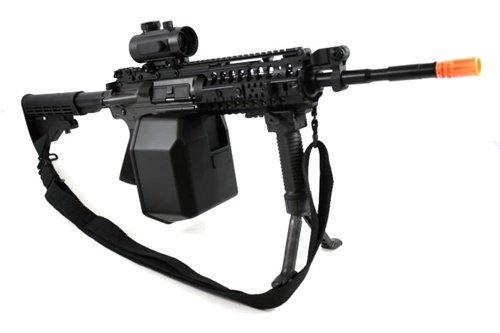 Jing Gong (JG)  2 445 fps JG full metal gearbox m4 s-system custom aeg gunner - newest enhanced model(Airsoft Gun)