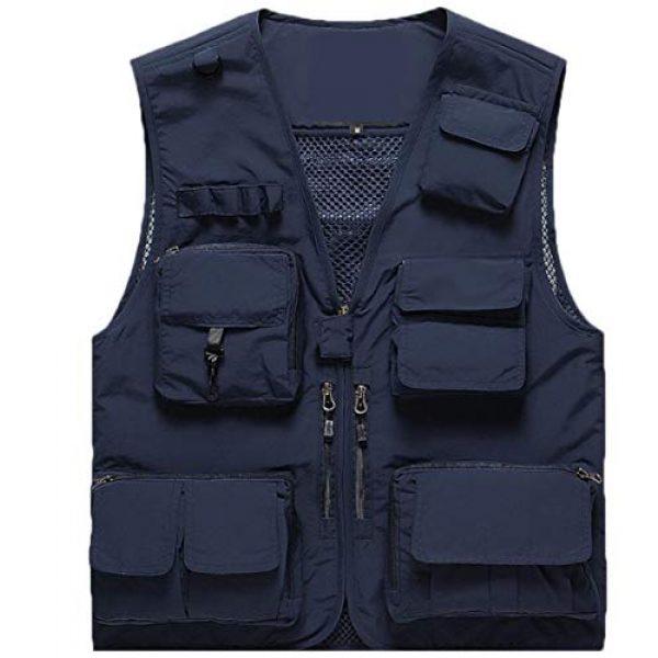 DAFREW Airsoft Tactical Vest 1 DAFREW Summer Vest Men's Quick-Drying Vest Outdoor Leisure Vest Multi-Pocket Detachable Vest (Color : Dark Blue, Size : M)