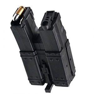 Airsoft Shopping Mall Airsoft Gun Magazine 1 Airsoft Shooting Gear CYMA 3pcs 250rd Short Mag Hi-Cap Dual Magazine for MP5 Series AEG Black